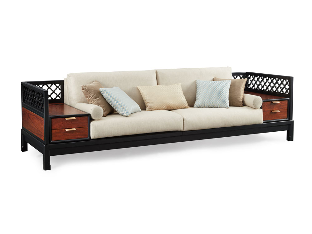 TANG LOVESEAT WITH END TABLE