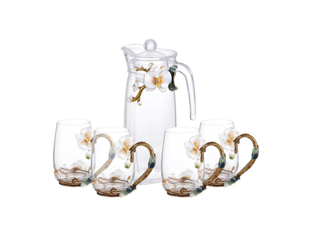 Tall Jug With 4 Cups - N-B0095
