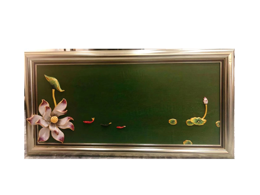 Floral Art Piece With Green Background