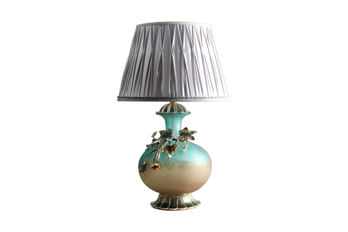 Table Lamp with Silver Shade - N-H0248